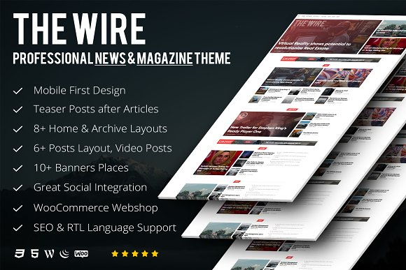 The Wire News Magazine Theme