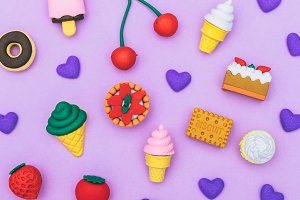 pattern of sweets and desserts
