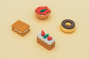 cookie, cakes and donut