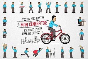 Men Character Generator