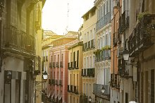 Madrid, colorful old neighborhood of