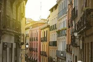 Madrid, colorful old neighborhood of