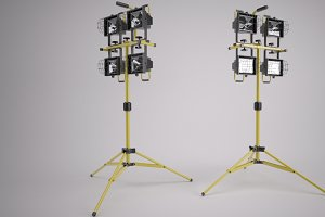 Indutstrial spotlights on Tripod