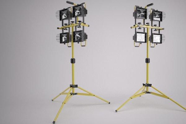 3D Appliances: Graphics834 - Indutstrial spotlights on Tripod
