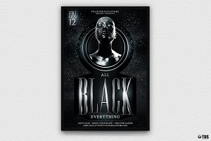 Black Party Flyer Template V3