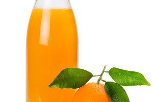 Orange fruit and juice.
