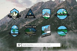 Canadian National Parks Badges