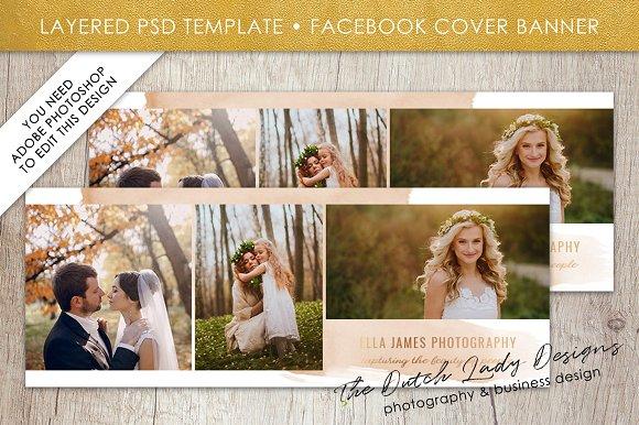 PSD Facebook Banner Template 10