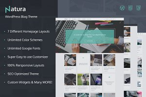 Natura - WordPress Blog Theme