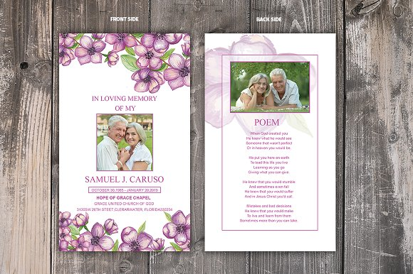 Funeral Prayer Card Template in Card Templates