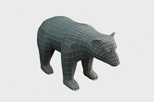 Bear Low Poly Base Mesh