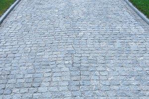 Natural stone paving walkway