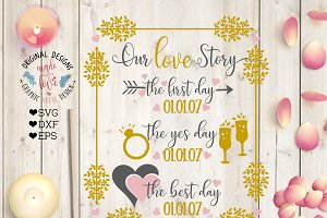 Our Love Story Wedding Cut File