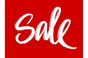 Sale hand lettering vector illustration