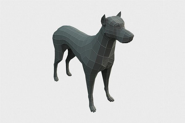 3D Animals: Bitgem - Dog Low Poly Base Mesh