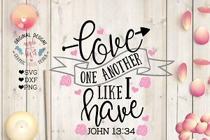Love One Another Cut File Printable
