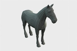 Horse Low Poly Base Mesh