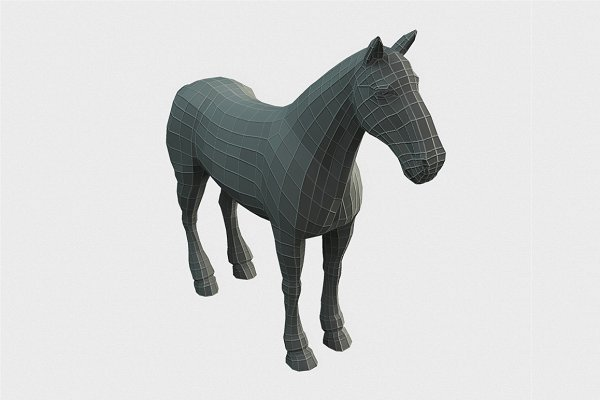 Animal: Bitgem - Horse Low Poly Base Mesh
