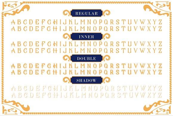 Cs mulan font ornaments display fonts creative market fandeluxe Gallery