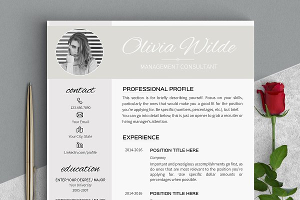 Resume Templates: LevelUpResume - Resume Template for Word