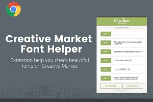 Creative Market Font Helper - Chrome