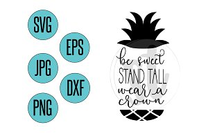 Be a pineapple SVG file