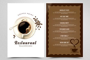 Coffee Restaurant Menu Template