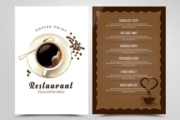 Coffee Restaurant Menu Template