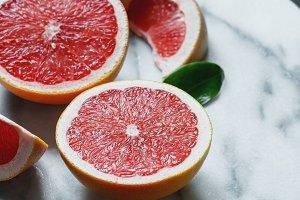 Close-up of grapefruits