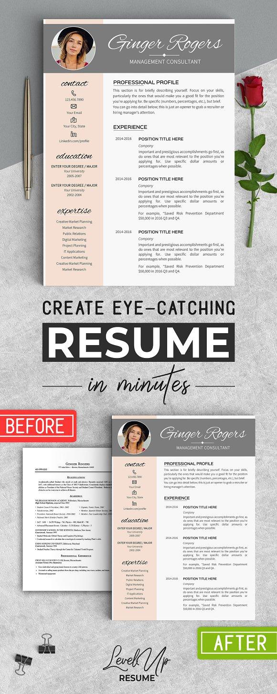 Feminine Resume Template \