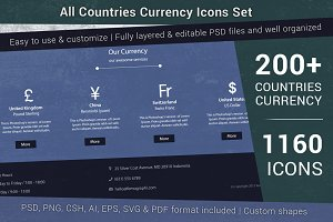 Currency Icons Set (All Countries)