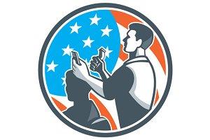 Barber Scissors Comb Cutting USA Fla
