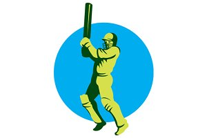 Cricket Player Batsman Batting Circl