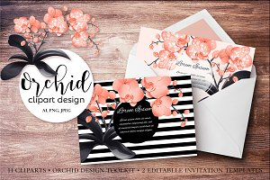 Orchid Clipart Design