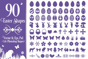 90 Easter Vector Shapes