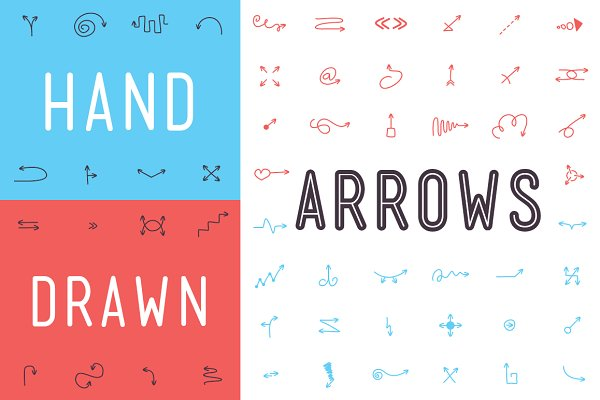 Symbol Fonts: Inspirationfeed - Hand Drawn Arrows