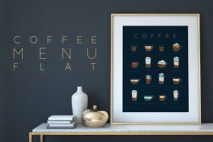 Coffee Menu Flat