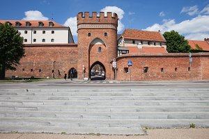 Medieval Bridge Gate In Torun