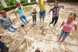 Active games at summer camp
