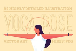 Yoga Poses Illustration Pack