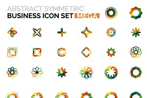 Mega business icons set 4