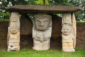 Three Ancient Statues