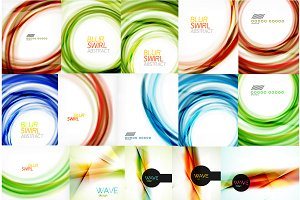 Blur swirl abstract backgrounds set
