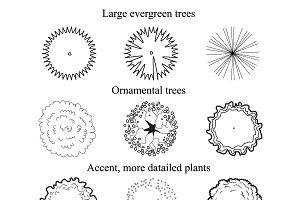 Vector trees, ground symbol set