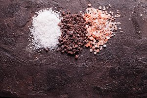 Various tupes of salts
