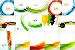 Glossy futuristic backgrounds set