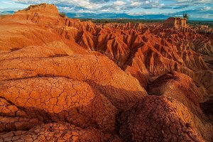 Red Rock Formations of Tatacoa
