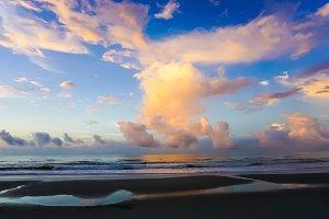 Scenic sunrise on the beach