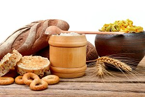 Food products made from wheat