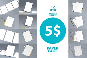 12 JPEG IMAGES  - A4 paper sheets